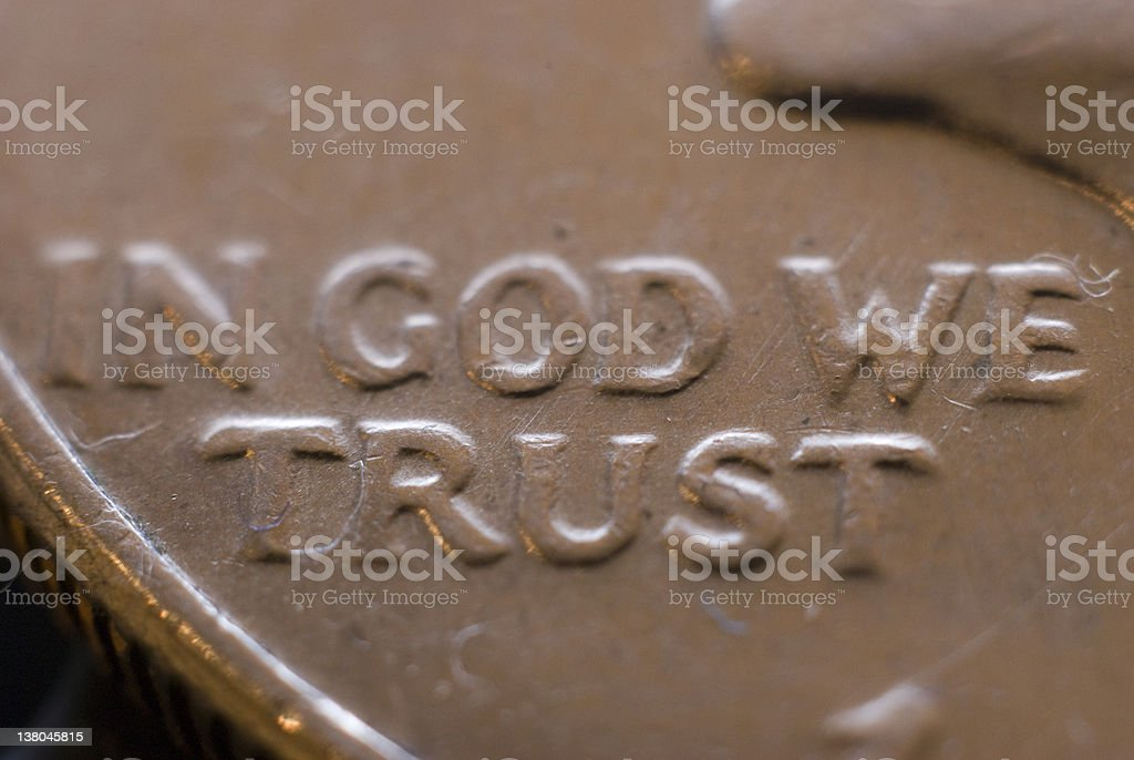 In God We Trust royalty-free stock photo