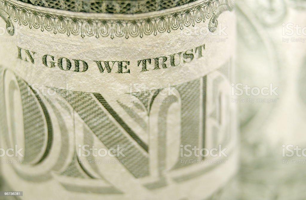 In God We Trust stock photo