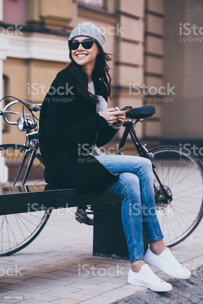 In great mood today. stock photo
