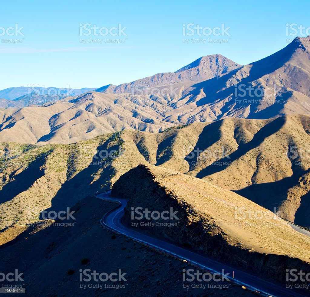 in ground africa morocco the bush  dry atlas mountain stock photo