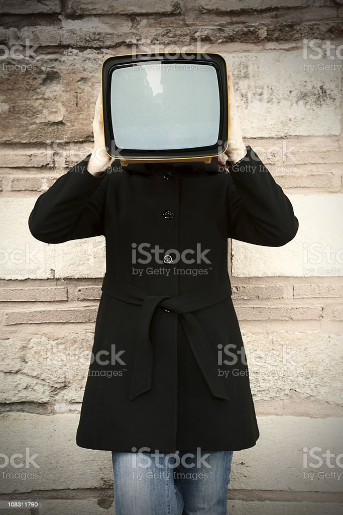TV. in Hand royalty-free stock photo