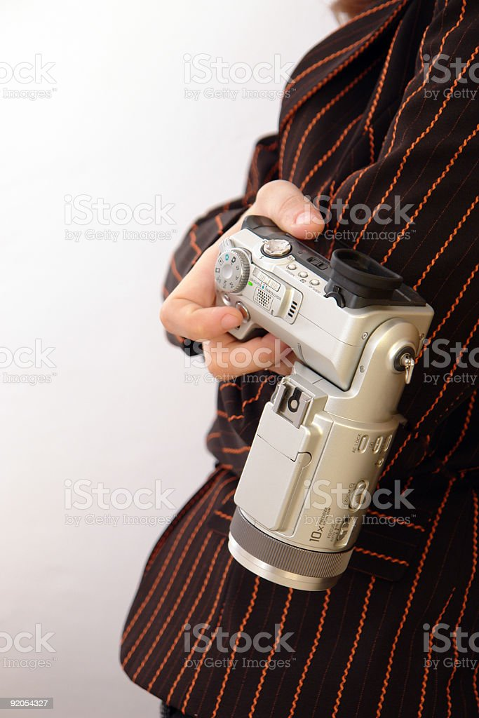 In hand stock photo