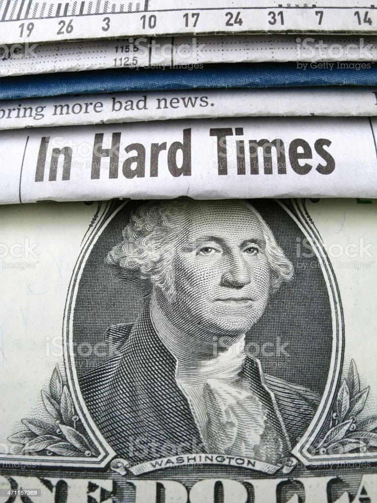 In Hard Times stock photo