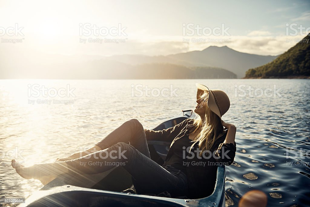 In her free time she indulges in fresh air stock photo