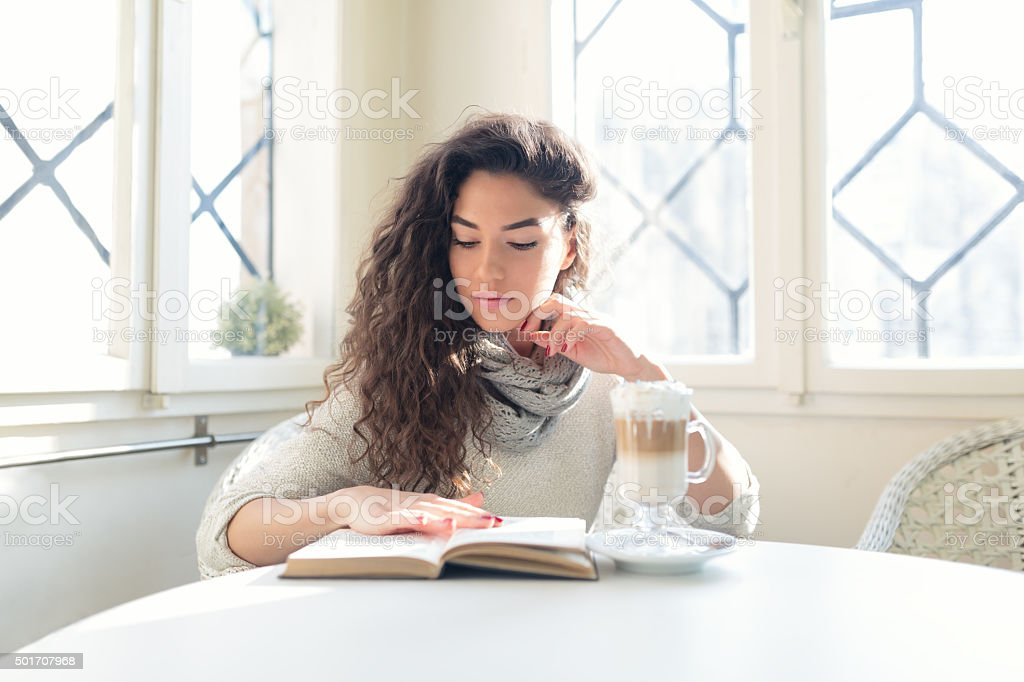 In Her Own World stock photo
