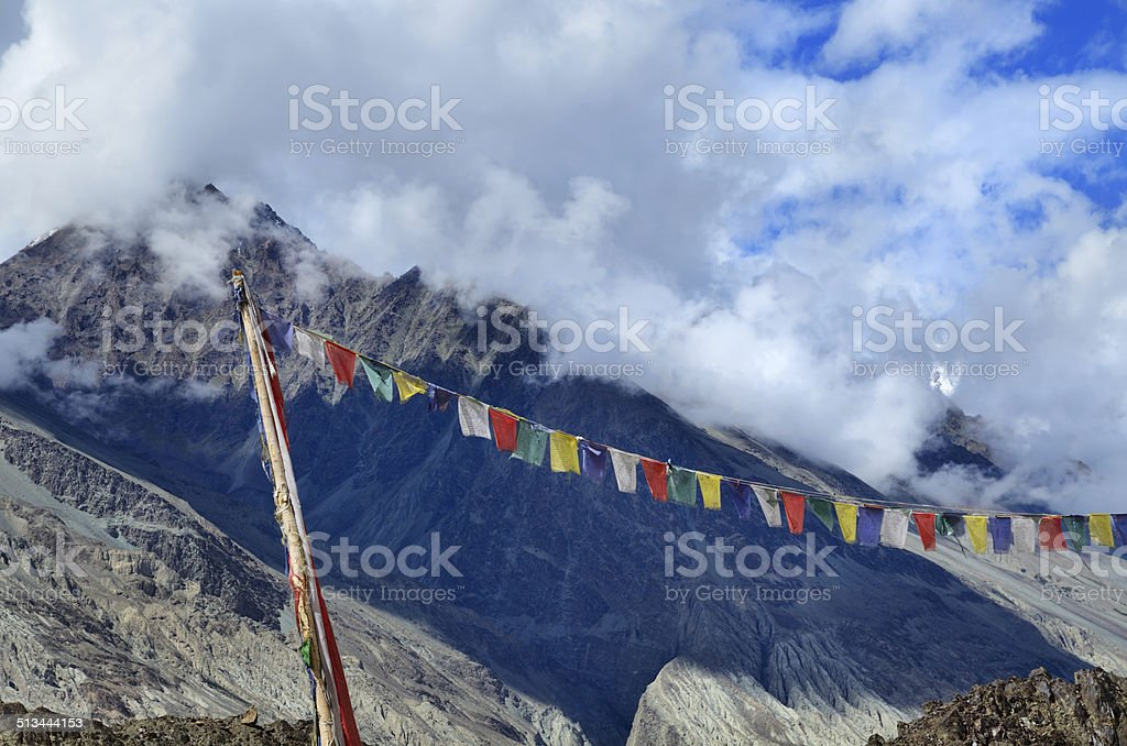 In Himalayas stock photo
