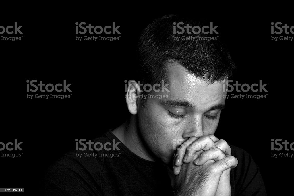 In His Darkest Hour royalty-free stock photo