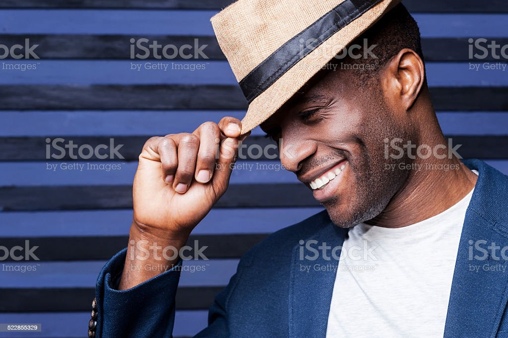 In his own unique style. stock photo