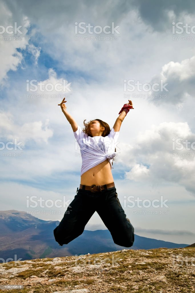 In jump stock photo