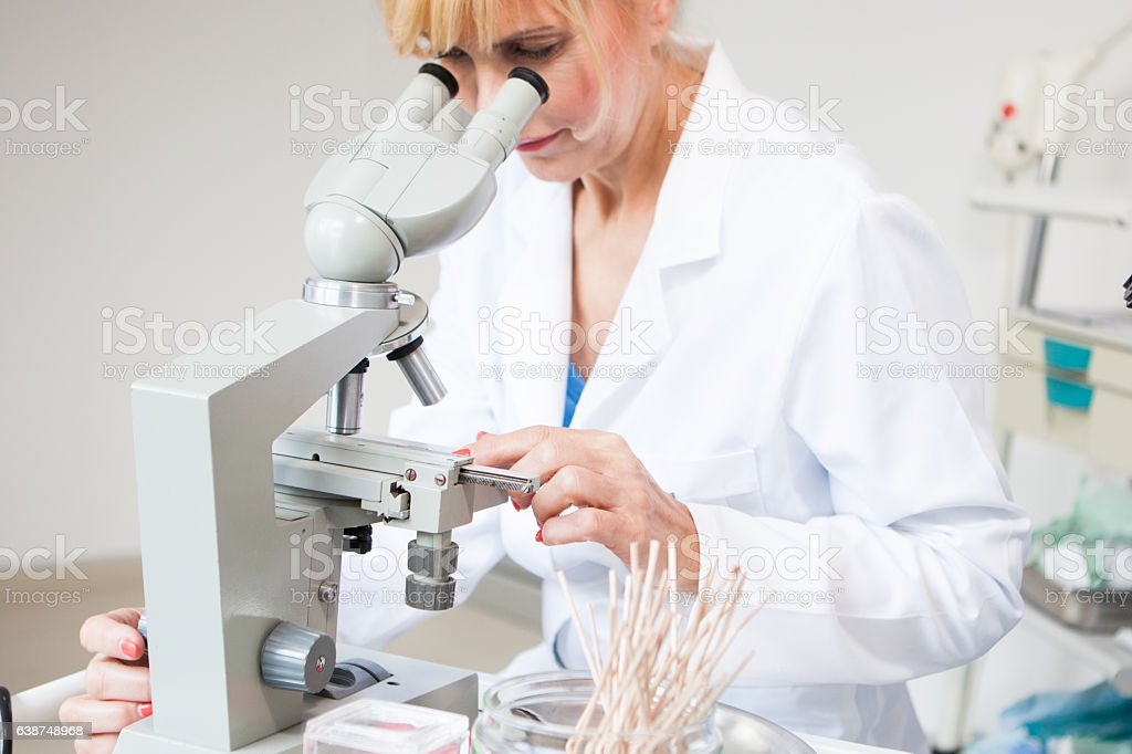 In laboratory for In Vitro Fertilisation stock photo