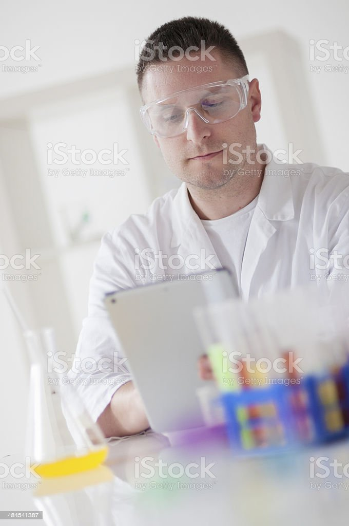 In laboratory royalty-free stock photo