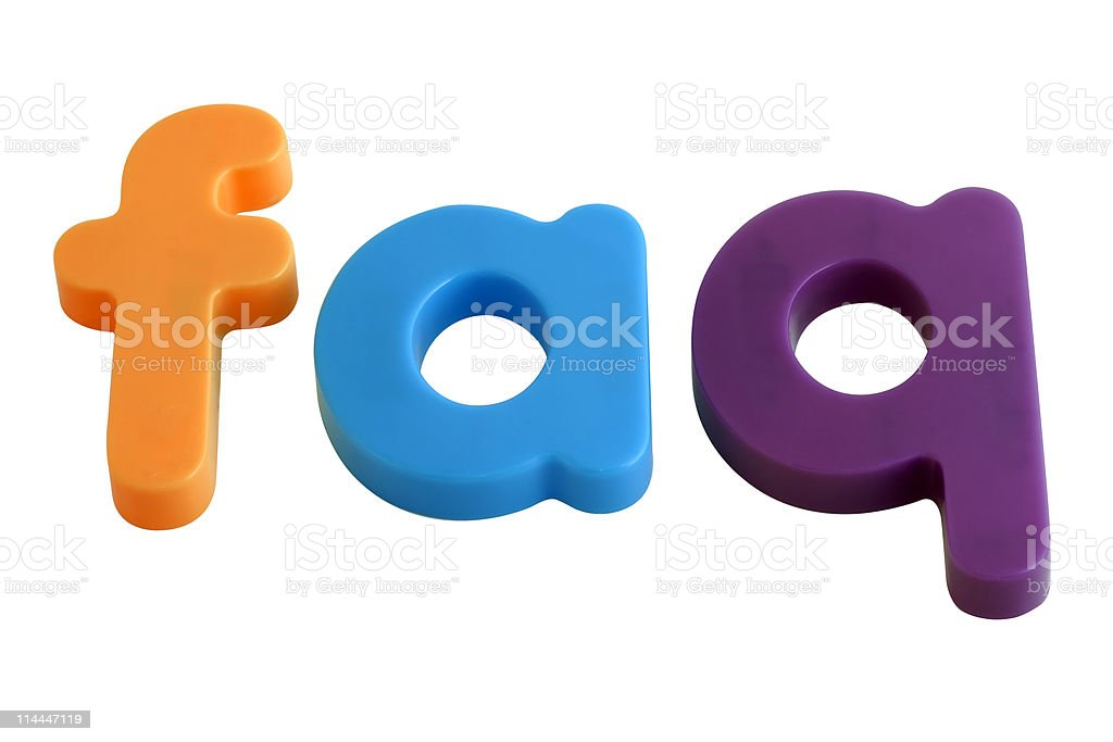 FAQ in letter fridge magnets royalty-free stock photo