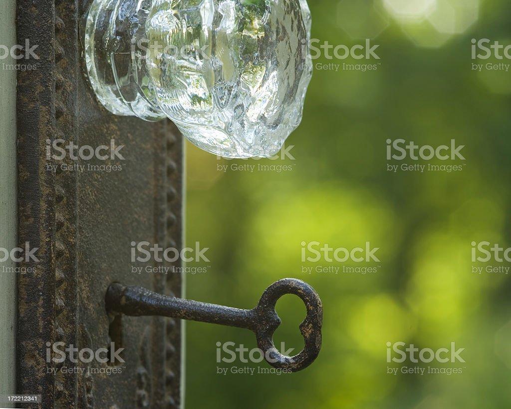 'In Life, Doors Open' stock photo