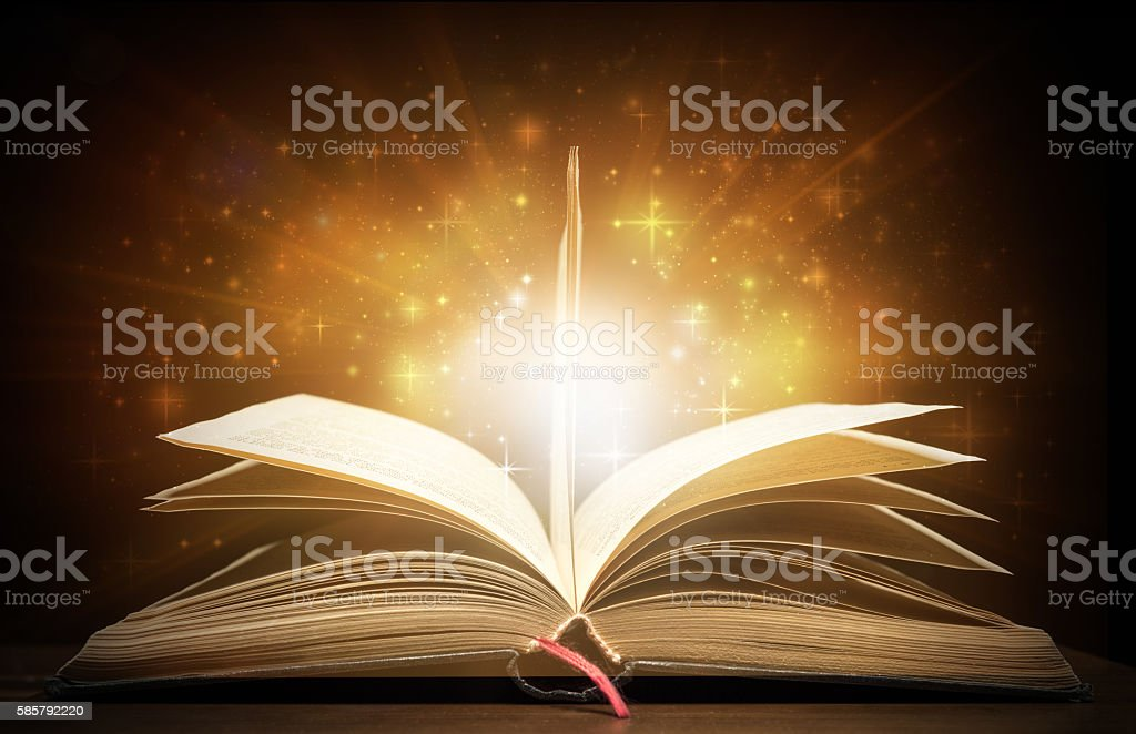 In light of the book stock photo