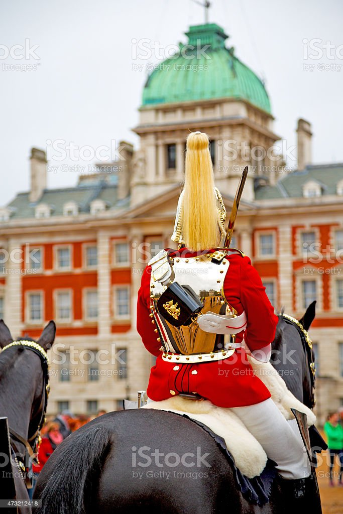 in london england horse and cavalry stock photo