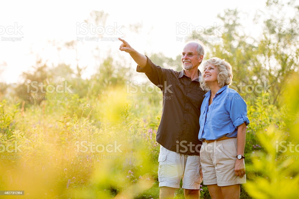 In Love and Enjoying Nature stock photo