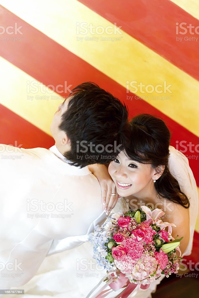 In love bride and groom royalty-free stock photo