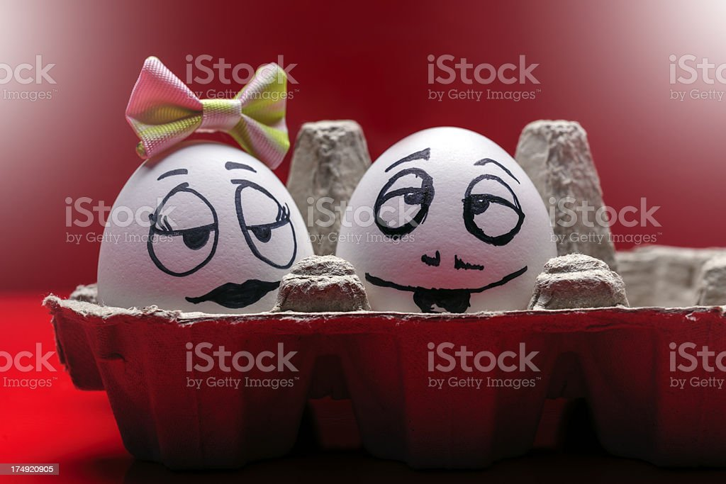in love eggs royalty-free stock photo