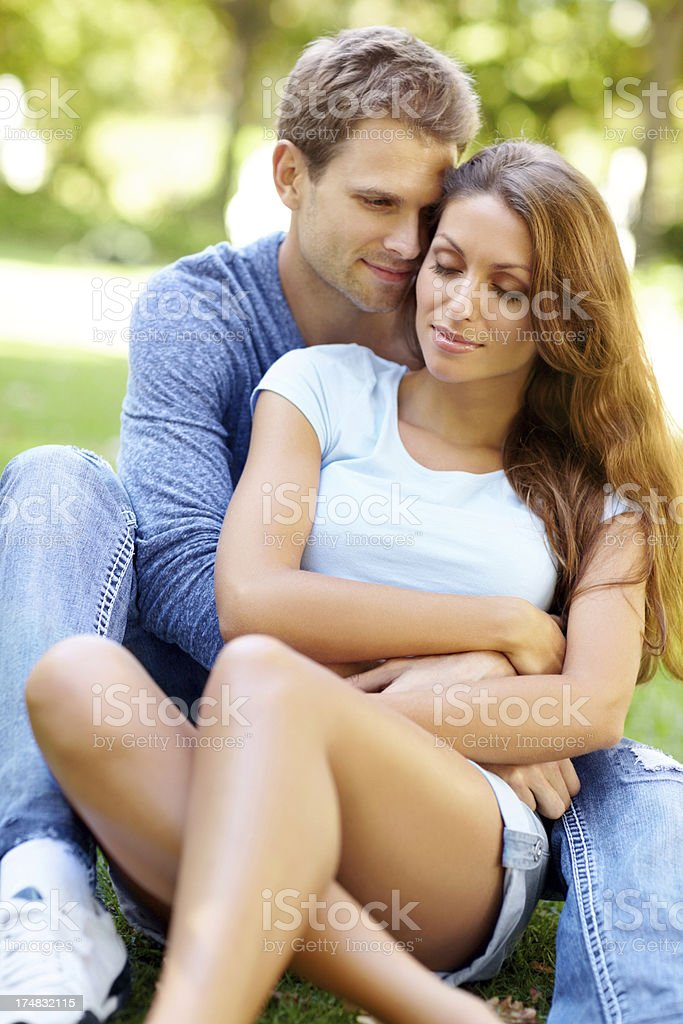 In love under the summer sun royalty-free stock photo