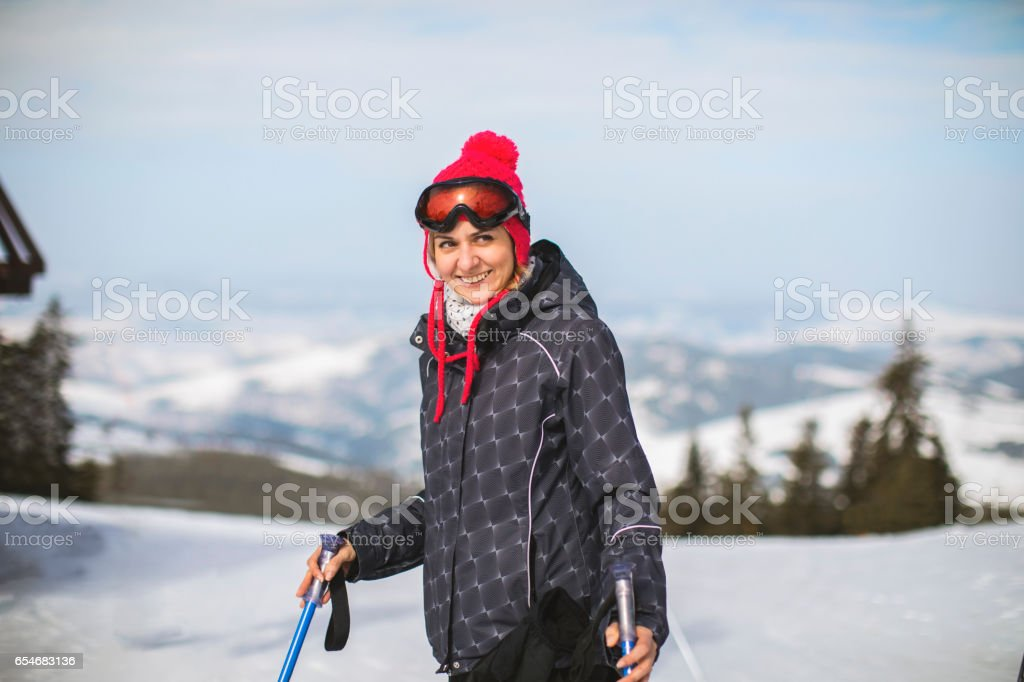 In love with winter sports stock photo