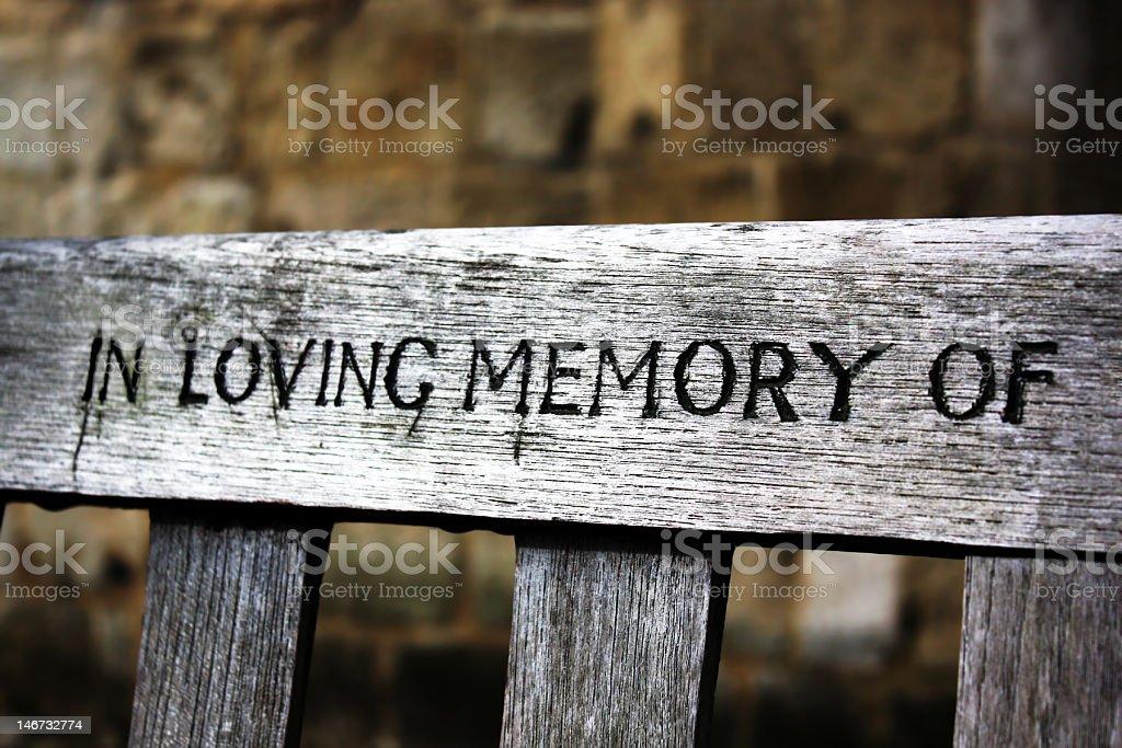 In loving memory of royalty-free stock photo