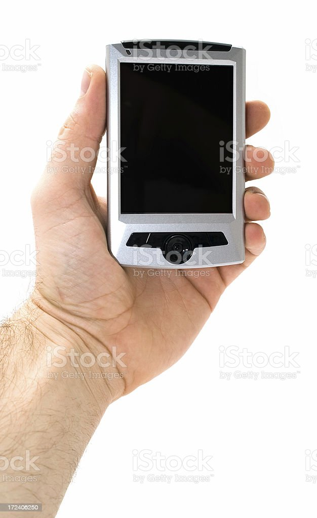 PDA in man's hands stock photo
