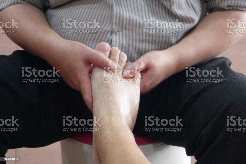 In massage salon stock photo