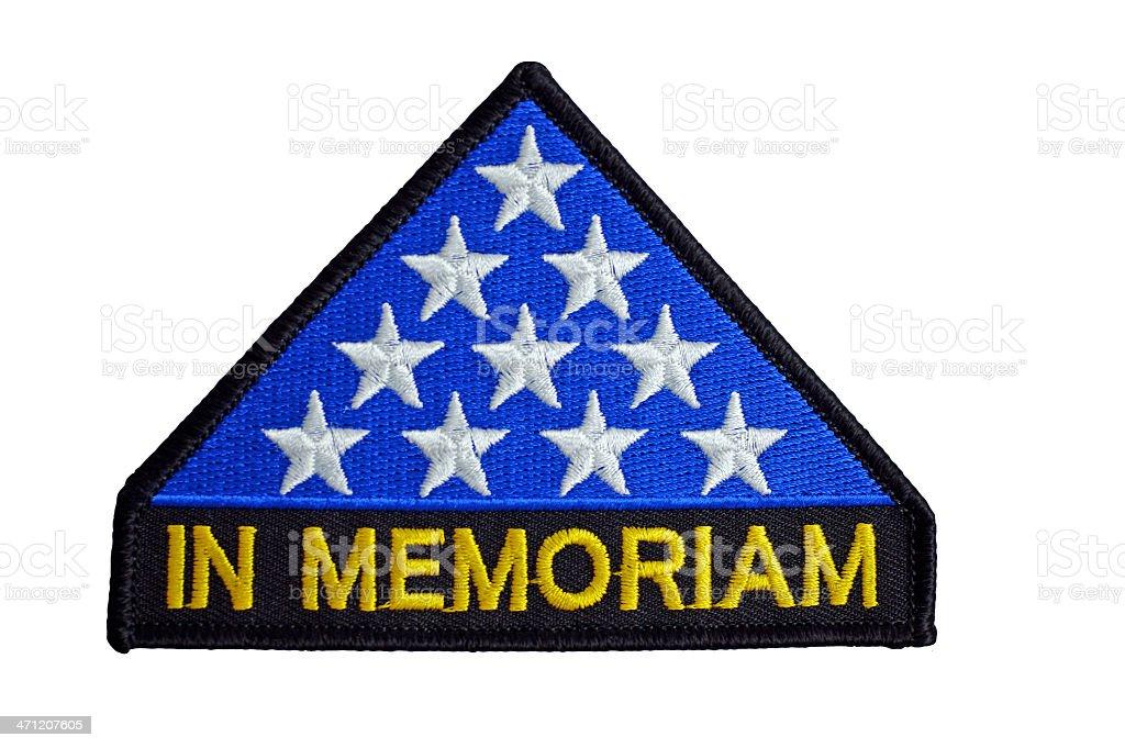USA In Memoriam Patch stock photo