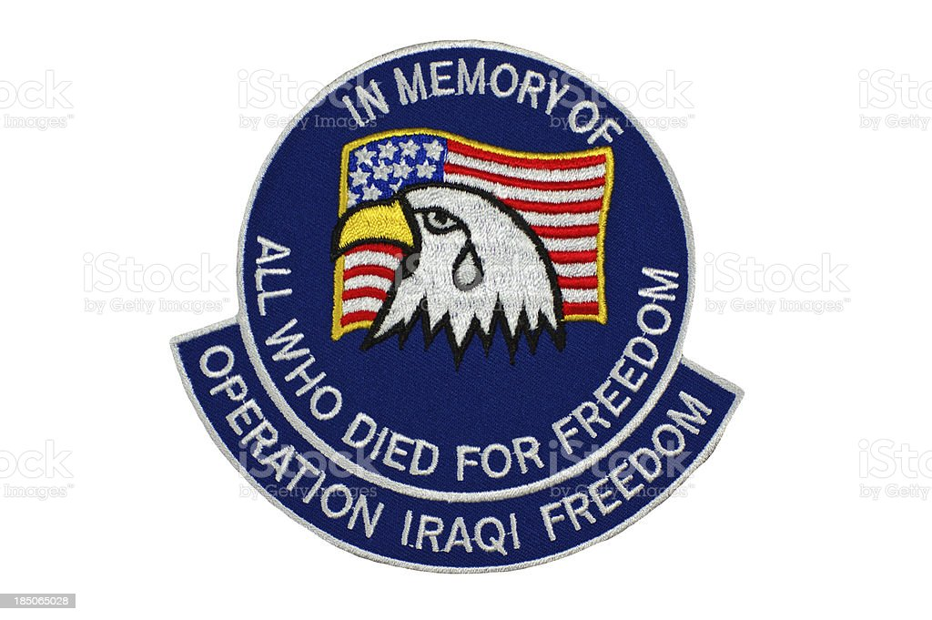 In Memory of Operation Iraqi Freedom royalty-free stock photo