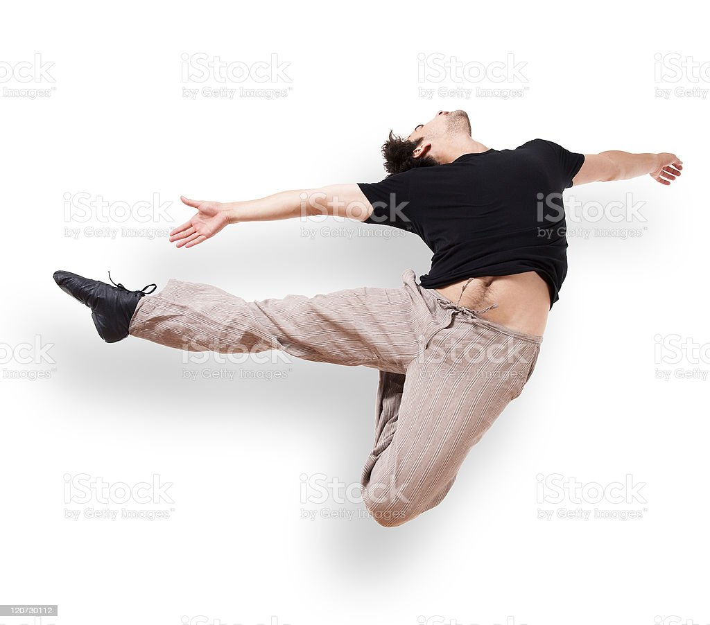 In motion jump royalty-free stock photo