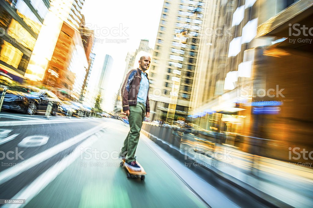 In motion stock photo