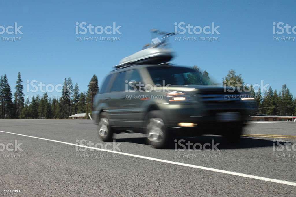SUV in Motion royalty-free stock photo