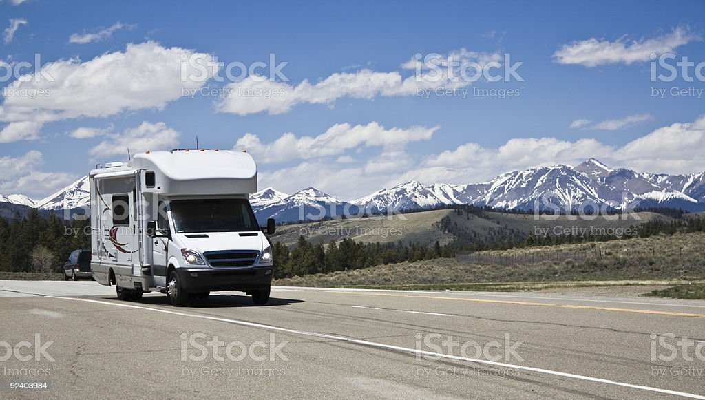 RV in mountains of Colorado. royalty-free stock photo