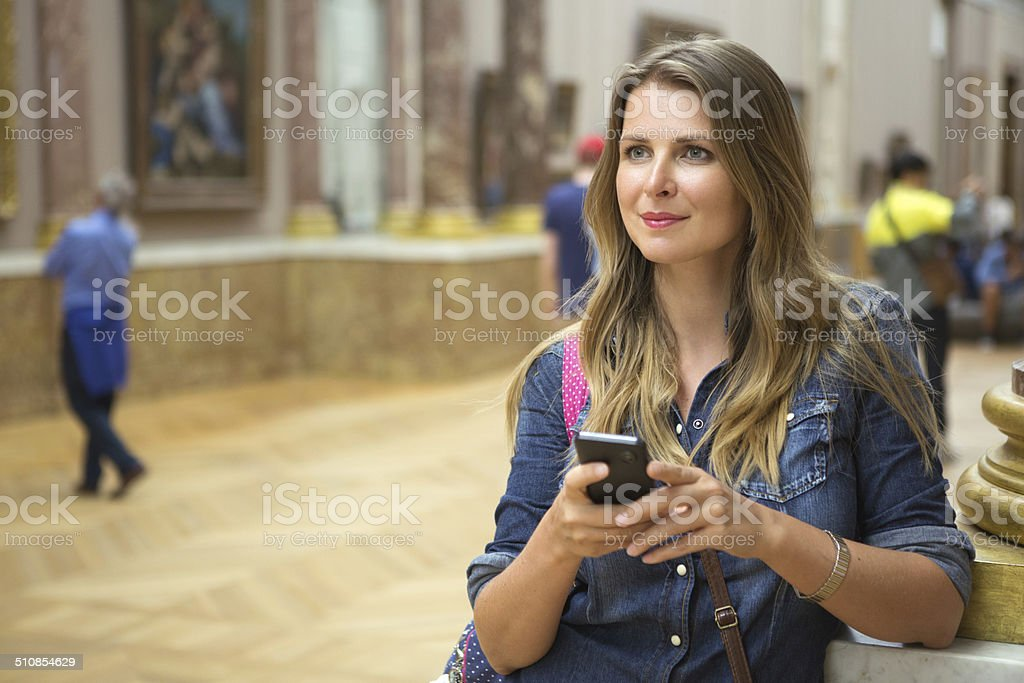 In museum. stock photo