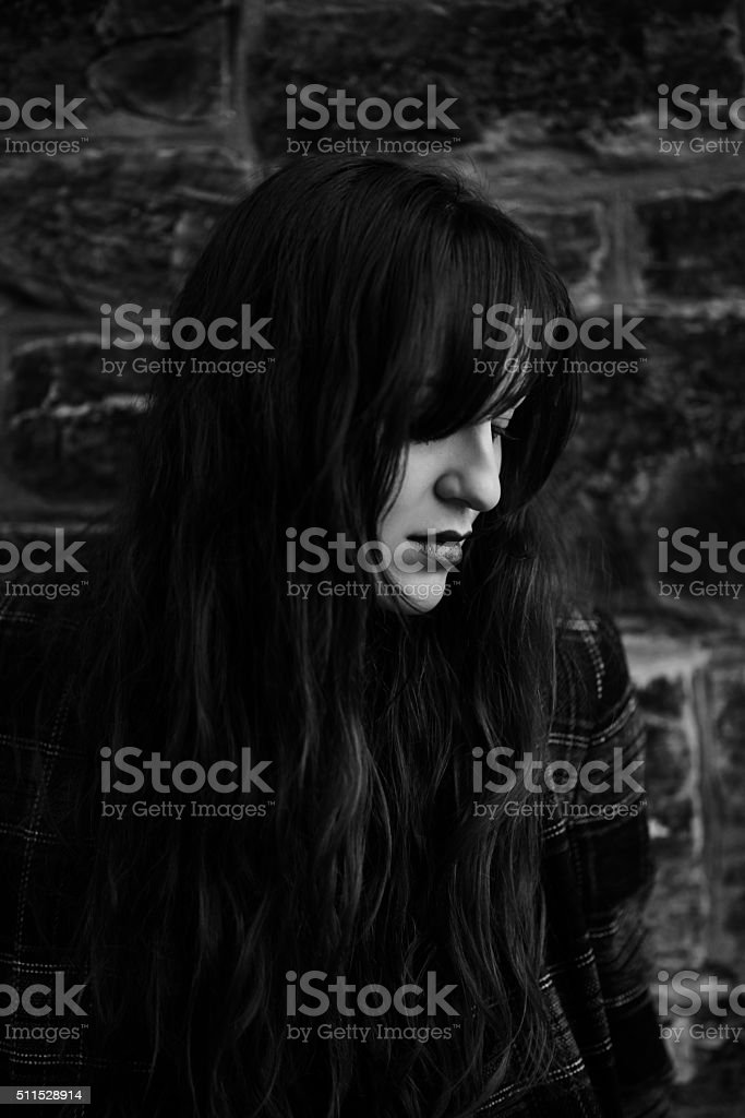 In my mind things go black stock photo