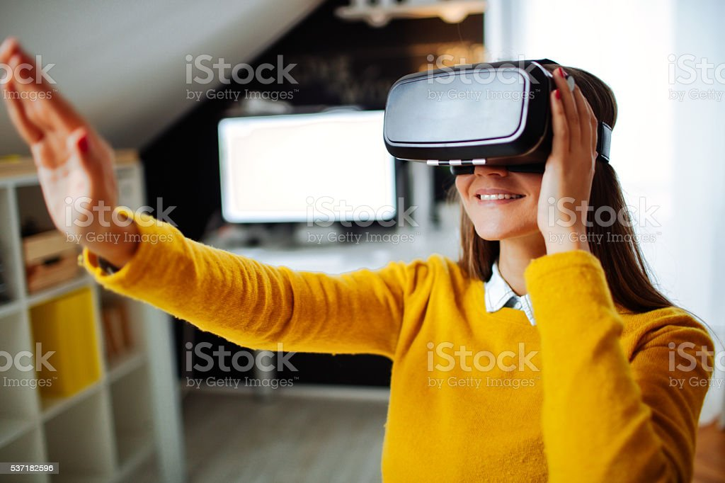 In my virtual world stock photo
