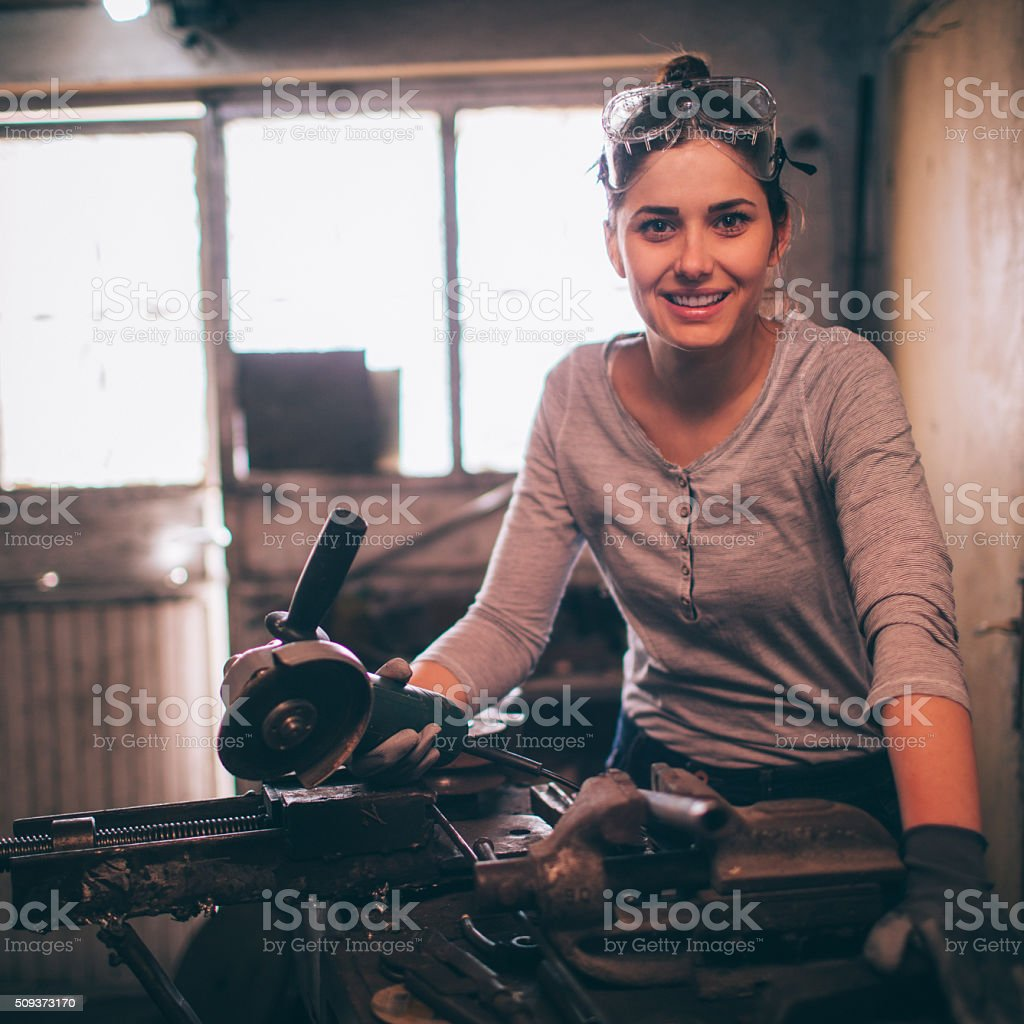 In my workshop stock photo