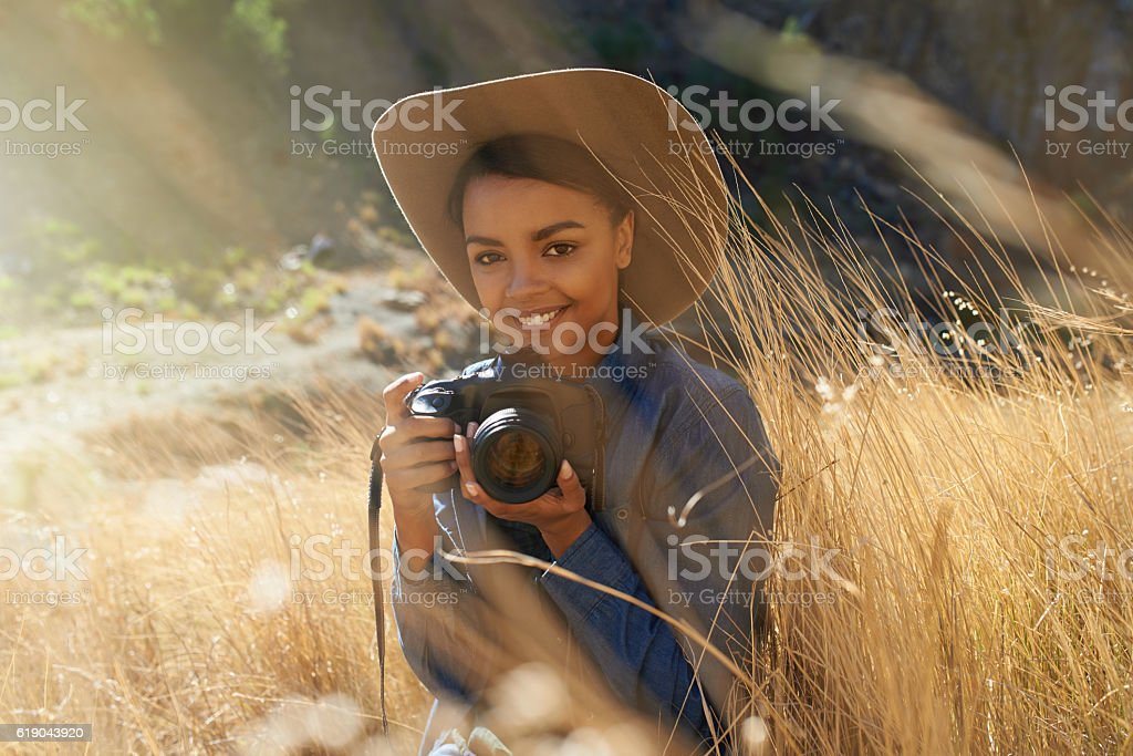 In nature, everything is photo-worthy stock photo