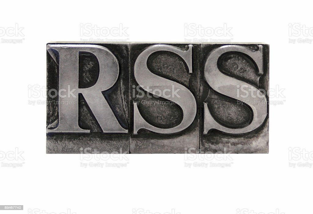 RSS in old lead type royalty-free stock photo