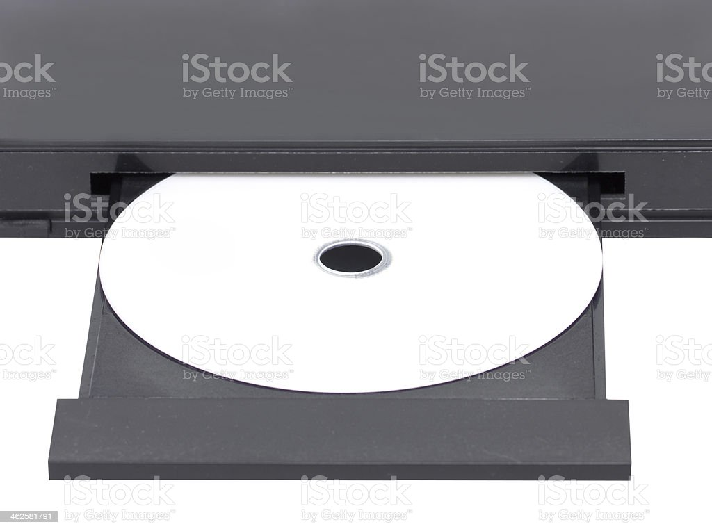 DVD In Open Tray. stock photo