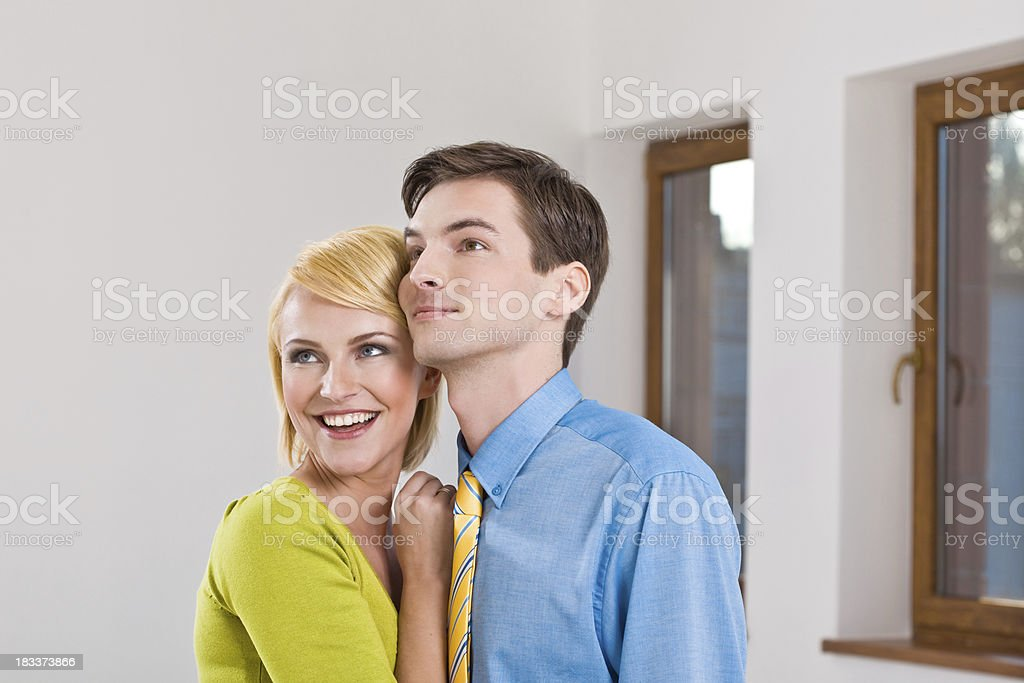 In our new flat! royalty-free stock photo