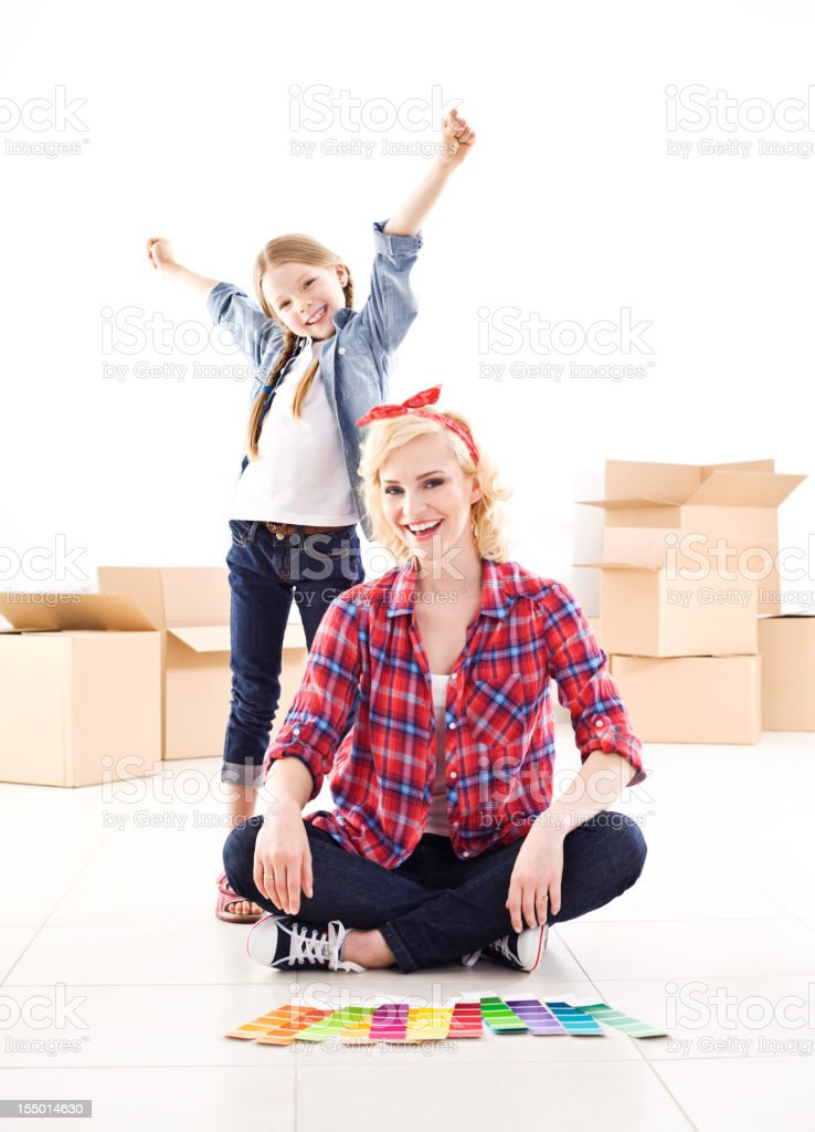In our new home royalty-free stock photo