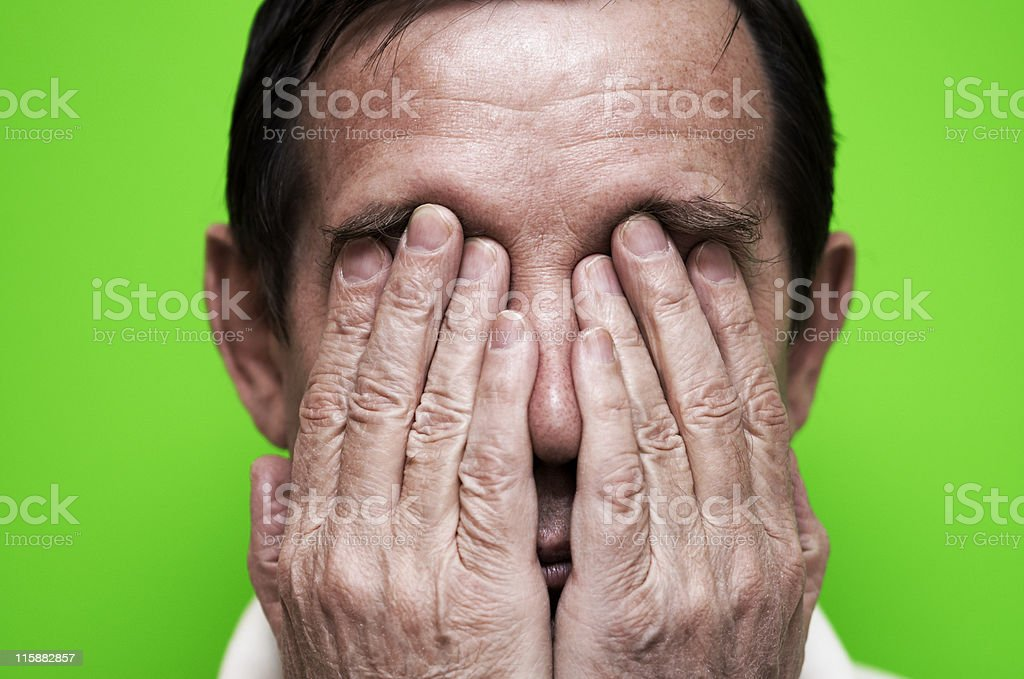 in panic royalty-free stock photo