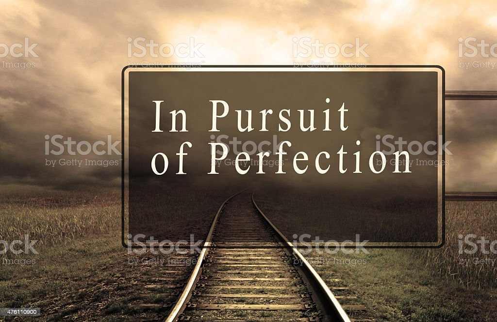 In Persuit of perfection stock photo