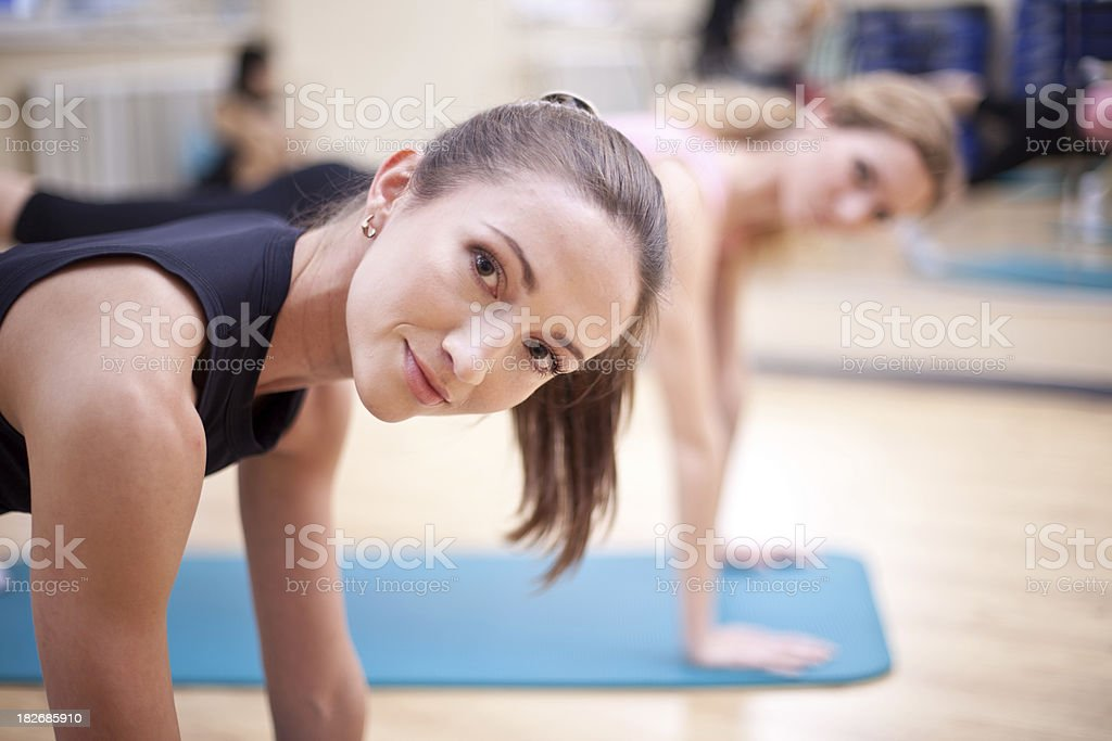 In Pilates session royalty-free stock photo