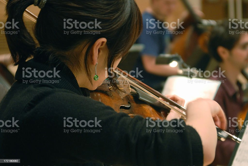 In rehearsal royalty-free stock photo