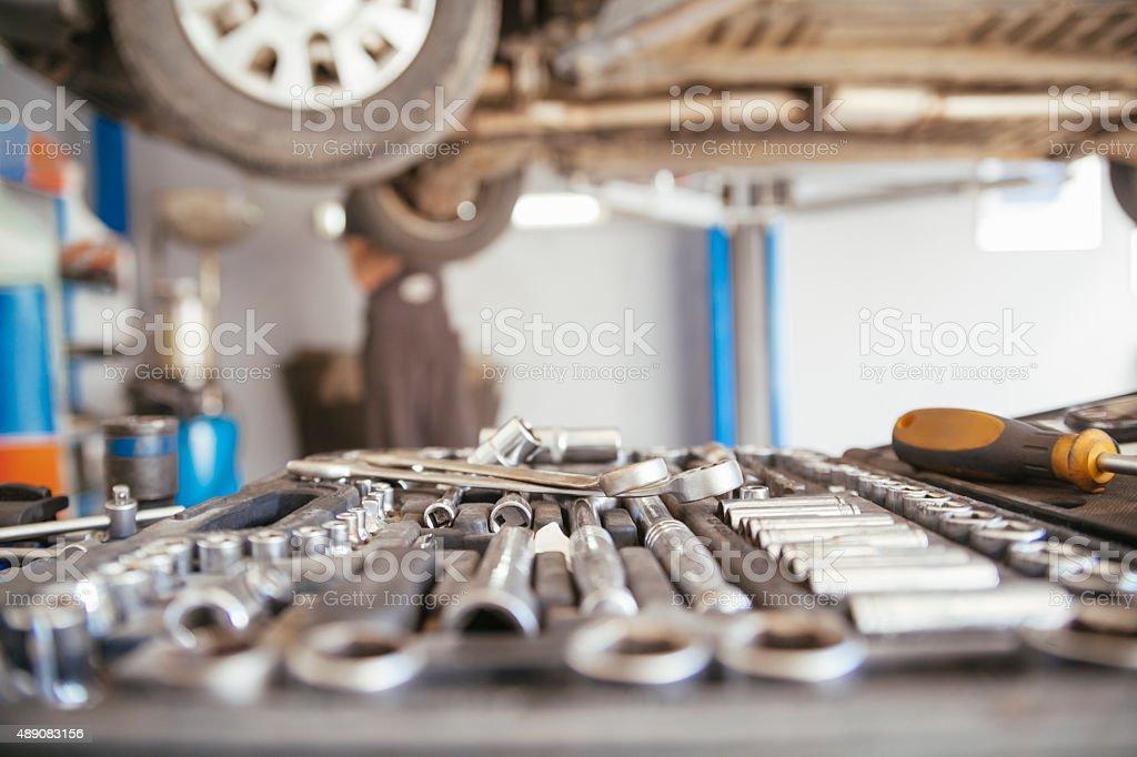 In Repair Service stock photo