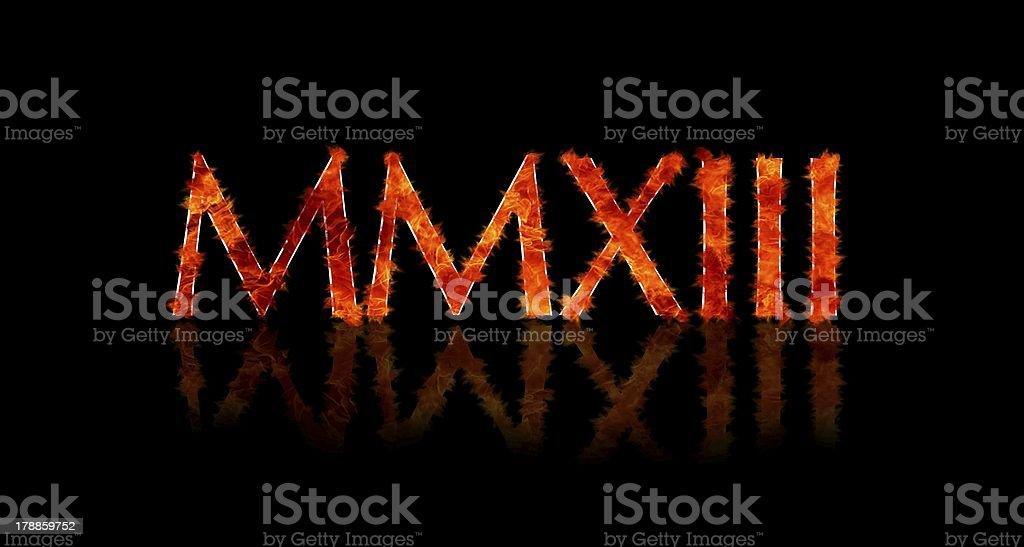 2013 in Roman numerals. stock photo