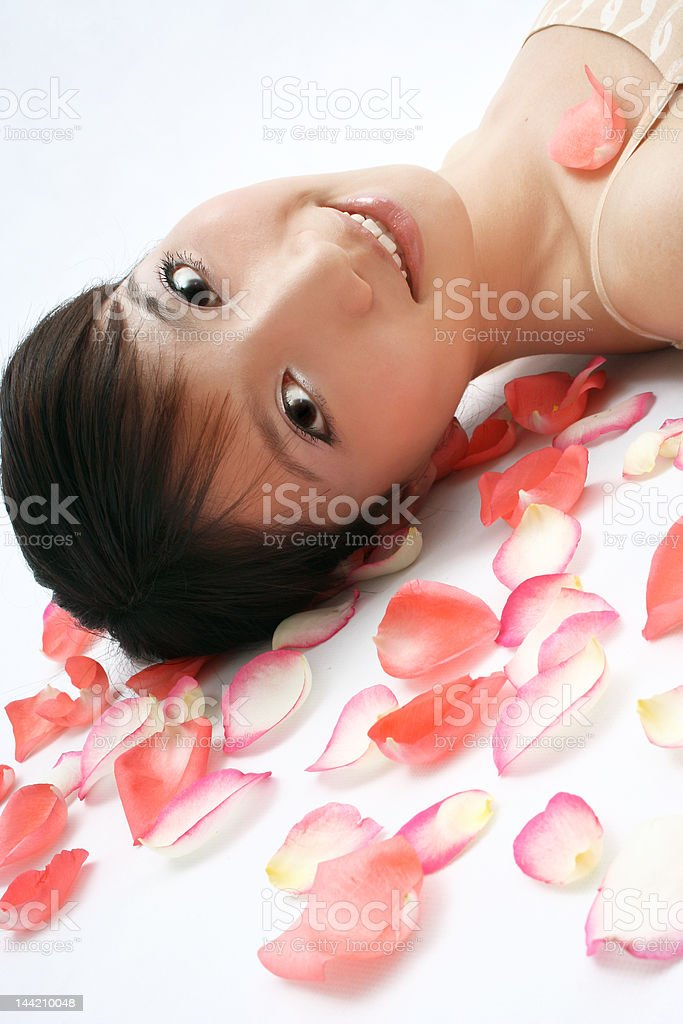 In rose's petals royalty-free stock photo