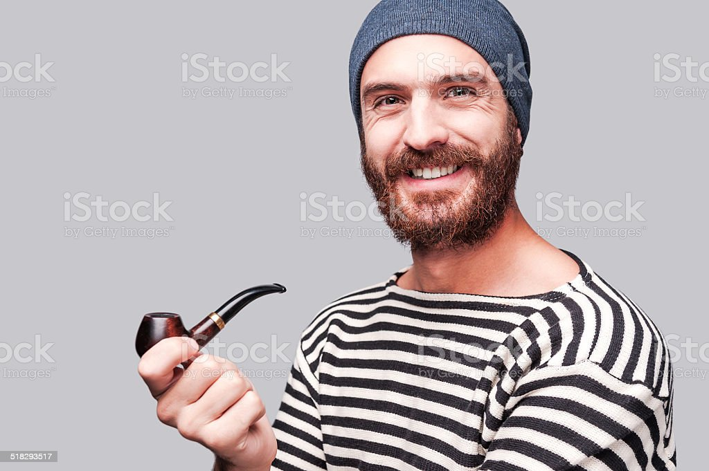 In sailor style. stock photo